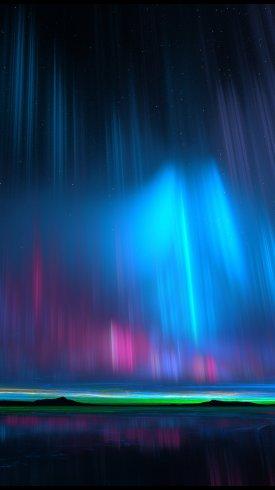 عکس زمینه نورهای شفق شمالی گرافیک خلاق