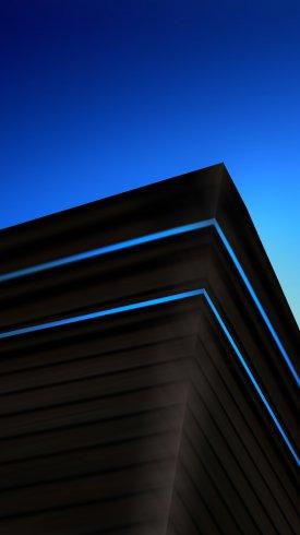 عکس زمینه گرافیک خلاق معماری مدرن آبی و مشکی