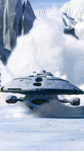 عکس زمینه سفینه فضایی در میان برف