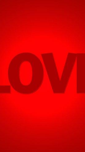 عکس زمینه صفحه قرمز عشق و love