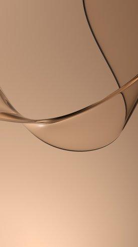 عکس زمینه منحنی موج های قهوه ای و طلایی