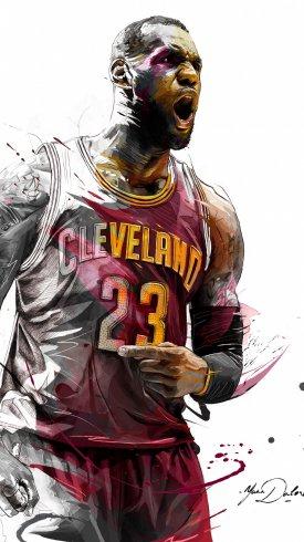 عکس زمینه لبران جیمز بازیکن بسکتبال آمریکایی