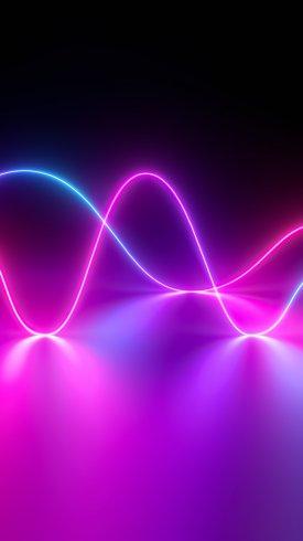 عکس زمینه بازتاب موجهای نئون با تکنولوژی هواوی
