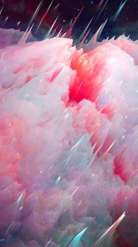 عکس زمینه انفجار رنگارنگ سحابی