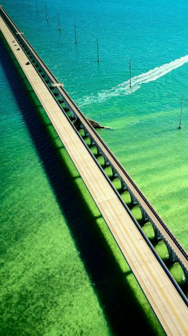 عکس زمینه نمای هوایی پل فلوریدا ایالات متحده