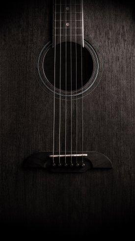 عکس زمینه گیتار با پس زمینه تاریک
