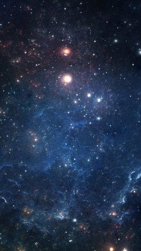 عکس زمینه فضایی سیارات کهکشان پر ستاره زیبا