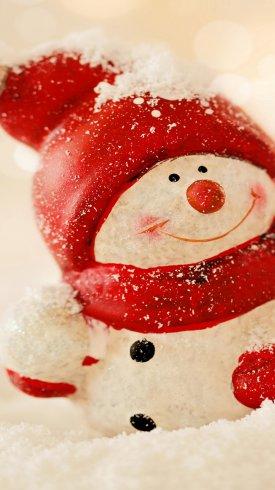 عکس زمینه کریسمس و جشن با آدم برفی