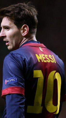 عکس زمینه لیونل مسی با لباس تیم بارسلونا