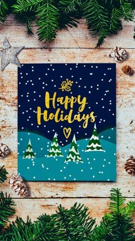 عکس زمینه پیام تعطیلات کریسمس مبارک