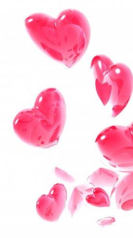عکس زمینه قلب های صورتی عشق