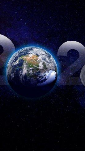 عکس زمینه کره زمین و سال 2020 میلادی
