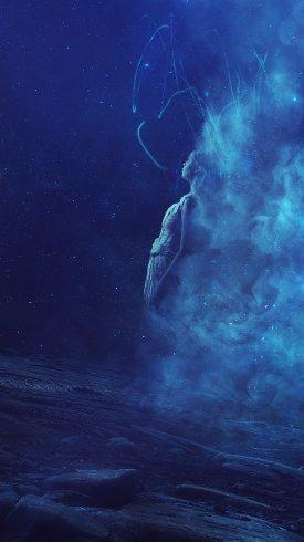 عکس زمینه رویای سورئال سفینه فضایی جنگجو