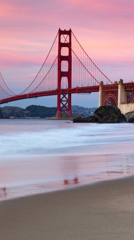 عکس زمینه پل گلدن گیت سانفرانسیسکو آمریکا