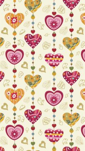 عکس زمینه قلبهای رنگارنگ بر روی کاغذ رنگی