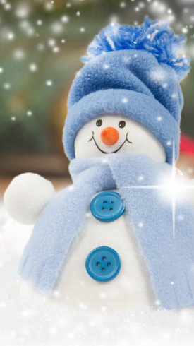 عکس زمینه دکوراسیون جشن کریسمس با آدم برفی