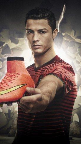 عکس زمینه کریستیانو رونالدو و تبلیغ نایک کفش