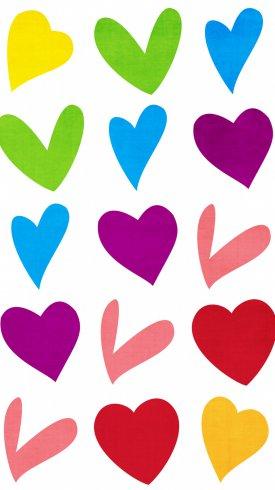 عکس زمینه قلب های رنگارنگ عاشقانه