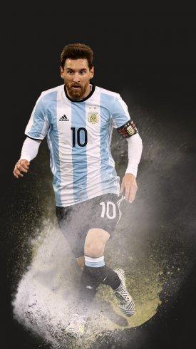 عکس زمینه لیونل مسی بازیکن بارسلونا در لباس تیم آرژانتین