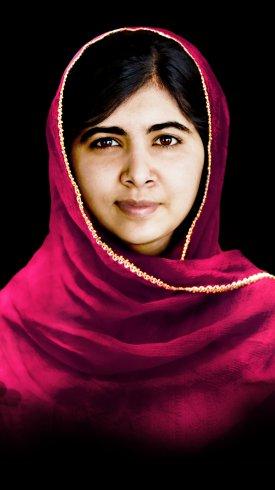عکس زمینه ملاله یوسفزی فعال پاکستانی برنده جایزه نوبل