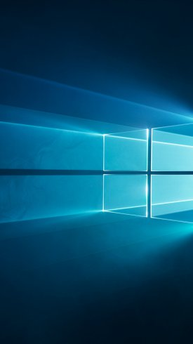 عکس زمینه آرم ویندوز 10 آبی رنگ