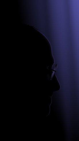 عکس زمینه استیو جابز در صفحه بدون نور