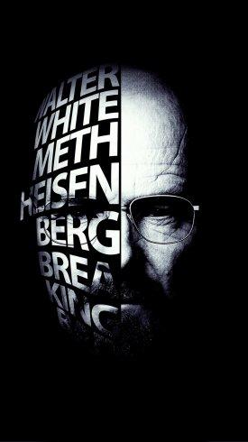 عکس زمینه تایپوگرافی شکستن بد برایان کرنستون والتر وایت هایزنبرگ