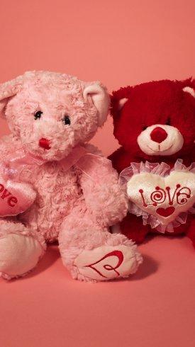 عکس زمینه خرس عروسکی برای تبریک روز ولنتاین