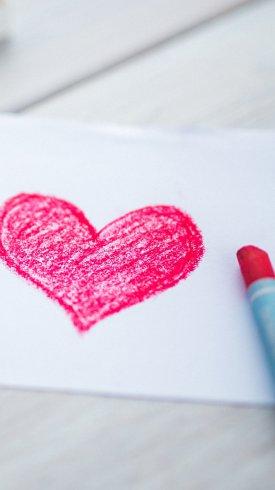 عکس زمینه عشق قلب طرح صورتی صورتی 4K عشق