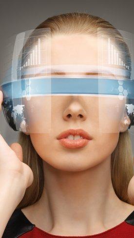 عکس زمینه واقعیت مجازی و مفهوم فناوری VR
