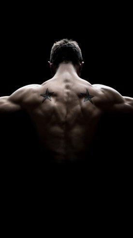 عکس زمینه ورزشی عضلات بدنسازی شده قوی